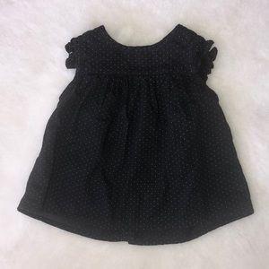 Baby Gap black polka dot blouse 3-6 months